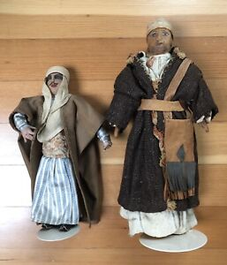 Vintage Handmade Compo & Cloth Dolls Middle East Exquisite Details 2 Persian