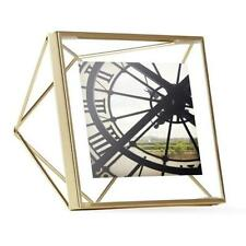 Umbra 4 in. x 4 in. Matte Brass Prisma Photo Picture Frame Display **NEW**