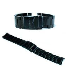 Cinturino per orologio nautica originale in acciaio nero ansa curva 22mm a42506g
