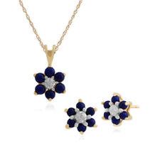Yellow Gold Plated Lapis Lazuli Fashion Jewellery