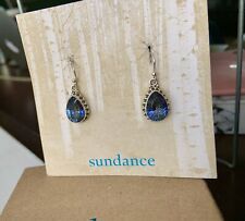 Sundance Catalog GORGEOUS Tears of Tanzanite Sterling Dangle Earrings $78