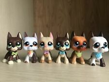 6lot Hasbro Littlest Pet Shop LPS Cream Great Dane Dog #577 puppy  Toys Rare