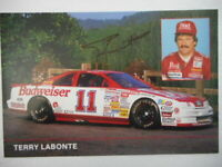 Terry Labonte signed 1988 #11 BUDWEISER J. Johnson Ford Winston Cup 6x9 Postcard