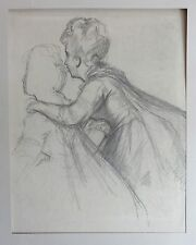 Joseph Emanuel Weiser: Damenportrait - Signierte Original Tuschezeichnung
