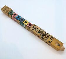"Artesanal Inca Tarka Peru Wooden Quena Flute Large 12"" x 1"" Peruvian (#3)"