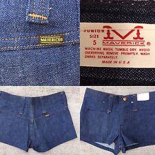 VTG Maverick Jeans Denim Shorts NOS Vtg Sz 5  27 1/2 Waist XS Made In USA 70s