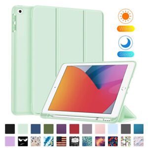 For Apple iPad 10.2 8th / 7th Gen Slim Magnetic Case Smart Cover Auto Sleep Wake