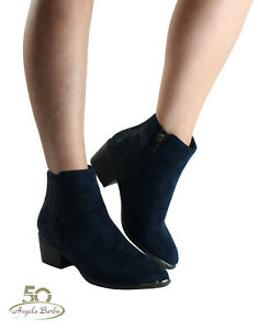 Xti Booties From for Woman Cowboy Boots Camperos Ankle Boots Heeled Shoes