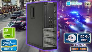 PC Gamer Core i5, GT 710 2Go , 8Go Ram, 120 Go SSD, 500 Go Disk Dur Windows 10