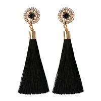 Fashion Bohemian Women Long Tassel Fringe Earrings Dangle Drop Ear Stud Jewelry