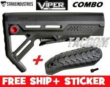 Strike Industries Viper RED BLACK MOD1 Compac Stock QD minimal + Rubber BUTT PAD