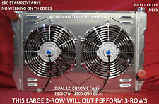 "UNIVERSAL RADIATOR CHEVROLET,GM CROSS FLOW SHROUD & DUAL 12"" FANS 31"" X 19"""