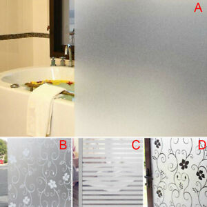 Window Door Privacy Film Sticker Home Bathroom Office Glass Walls PVC Frosted