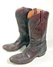 Lucchese Black Cherry 12 D  Hobby Mens Cowboy Western Boots Goat L6603