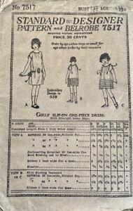 Antique New Idea Pattern Standard Designer & Belrobe #7517 Girls Sz 6 1 PC dress