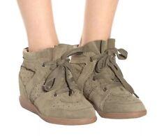 """ISABEL MARANT⚡️""""Bobby"""" suede mid top hidden heel wedge sneakers size 37EU/7US"""