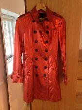 Burberry Prorsum Metallic Leather Trench Coat Orange UK6 Will Fit 8