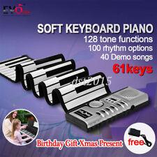 Flexible 61 Keys Soft Electric Digital Roll-up Keyboard Piano Diatonic XMAS Gift
