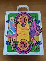 MINT Barbie 1967 Francie Casey Vinyl Carrying Case + Clothes & Accessories LOOK!