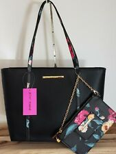 Betsey Johnson Black Floral handbag Large Tote