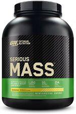 Optimum Nutrition Serious Mass Weight Gainer Protein Powder, Banana, 6 Pound (Pa