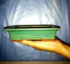 Bonsai small pot - Green color glaze coating - special - Made in South Korea