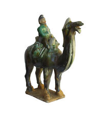 Chinese Pottery Clay Ancient Style Camel w Man Figure cs732-9