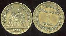 FRANCE  FRANCIA 1 franc  CHAMBRE DE COMMERCE 1927   ( bis )