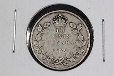 1920 Ten 10 Cents Canada - Silver