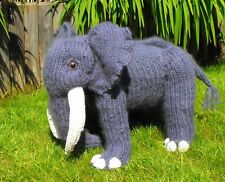 PRINTED KNITTING  INSTRUCTIONS-ENGELBERT ELEPHANT TOY ANIMAL KNITTING PATTERN