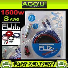 FLI AK8 12V 8 Awg Gauge 1500W 1500 WATT SISTEMA AUTO AMP AMPLIFICATORE LED Kit di cablaggio