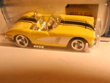 Hot Wheels 2002 Corvette series #3 `58 VETTE yellow with white, & black stripes