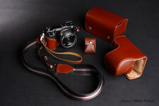 Real Leather Camera Case and  4 accessories for Sony NEX-6 NEX6 (a set of five)