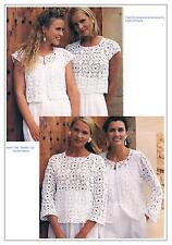 Crochet Patterns Ladies Summer Jacket Gilet Sweater Top PATTERNS ONLY-4-Ply ±ha0