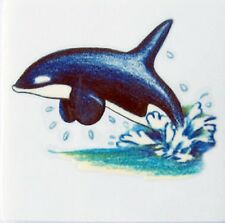Whale Permanent Rub On Transfer Plastic Glass Tiles DT02