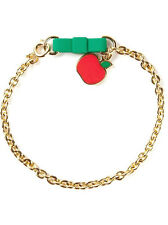 Bnwt-Marc by Marc Jacobs-PAPILLON Apple Bracciale con Charm