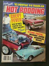 Popular Hot Rodding Magazine 1982 February '82 Pontiac V-8 Trans-AM  + #M111