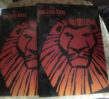 The Lion King Broadway Musical Guide Booklet Lot Of 2