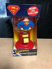 SUPERMAN GUMBALL DISPENSER MACHINE HILCO NEW STILL IN PACKAGE