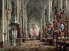 Nieder-Österreich. Wien. Stephansdom. Inneres. vintage photochrom from Photochro