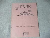 TANK  ATARI    arcade game manual