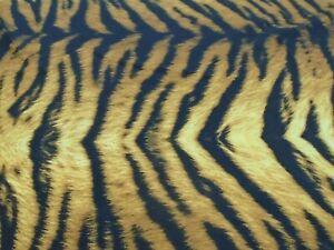 TIGER PATTERNED LYCRA 50cm