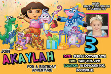 DORA THE EXPLORER Invitation Birthday Party Invite YOU PRINT Digital File BOOTS