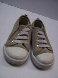 Keds Shoes Toddler Boys Size 6 Tan Zipper Side