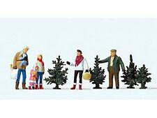 Preiser 10627 Weihnachtsbaumverkauf 5 Figuren Bäume H0 Weihnachtsbaum Neu