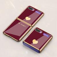Plating Phone Case Glass Back Cover for Samsung Galaxy Z flip/F7000/F7070 BAU