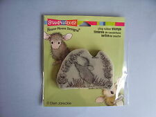 HOUSE MOUSE RUBBER STAMPS CLING SCENT OF LILAC STAMP