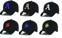 Baseball cap new cotton Mens  Women  hat letter A unisex Black hats casual hat