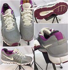 Nike Dual Fusion ST2 Sz 11 Women Gray Purple Running Shoes EUC YGI E7-5