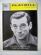 AN EVENING WITH YVES MONTAND Playbill OPENING WEEK NYC 1959